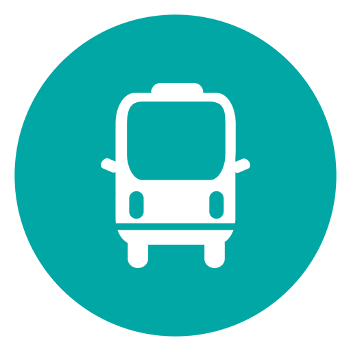 Travel Bus Circle Icon
