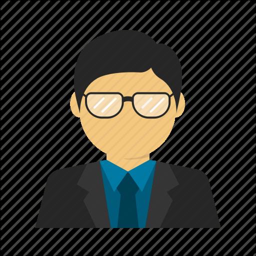 Avatar, Business, Businessman, Glasses, Smart, Suit Icon
