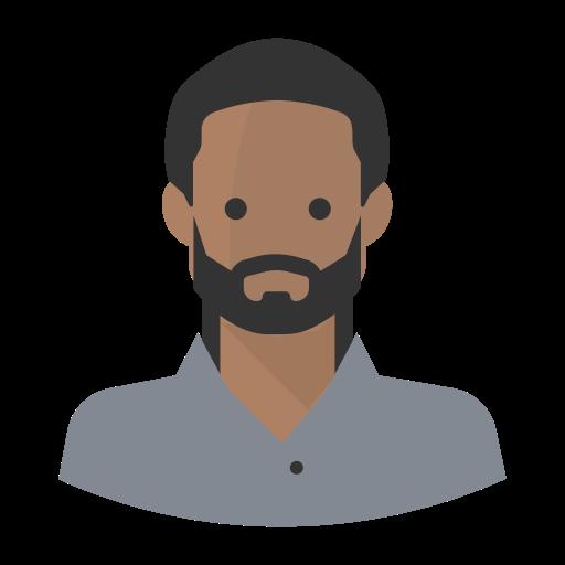 Avatar Black Man Beard, Black Man, Job Icon Png And Vector