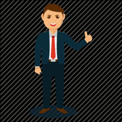 Businessman Appreciation, Businessman Mascot, Cartoon Businessman