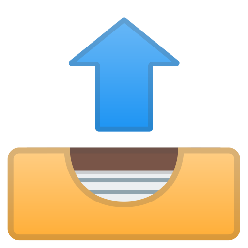 Outbox Tray Icon Noto Emoji Objects Iconset Google