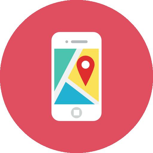 Application Map Icon Kameleon Iconset Webalys