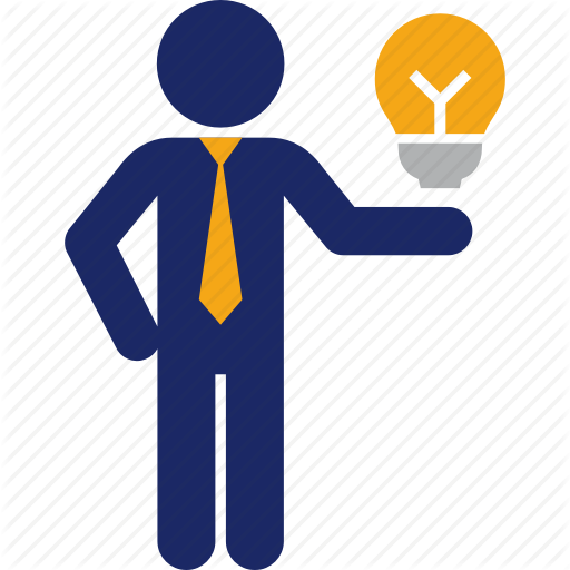 Business, Clever, Good, Idea, Man, Owner, Presentation Icon