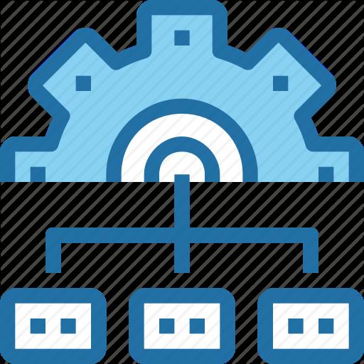 Company, Develop, Development, Gear, Management, Process Icon