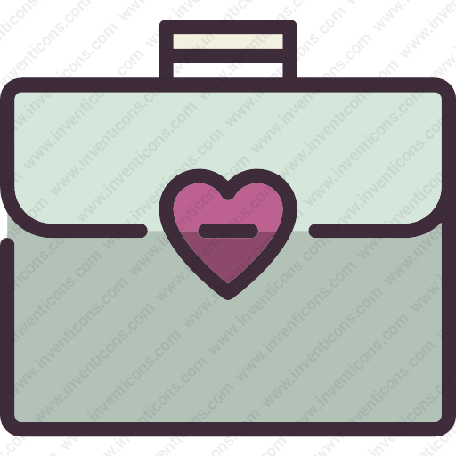 Download Briefcase,heart,baggage,travel,business Icon Inventicons