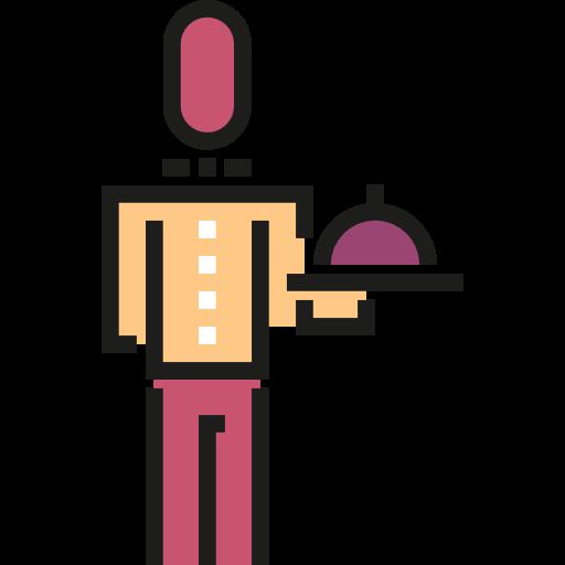 Waiter, Servant, Food And Restaurant, Man, People, Boy, Butler Icon