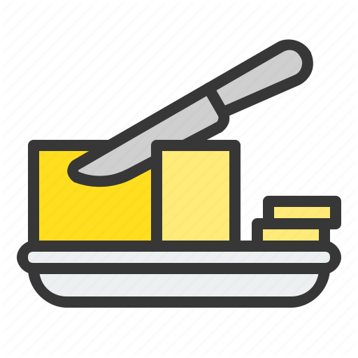Bakery, Butter, Cut, Gastronomy, Restaurant, Shop Icon