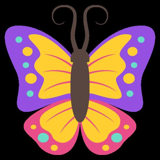 Butterfly Emoji Vector Icon Free Download Vector Logos Art