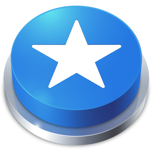 Favorites Star Blue Button Icon Png