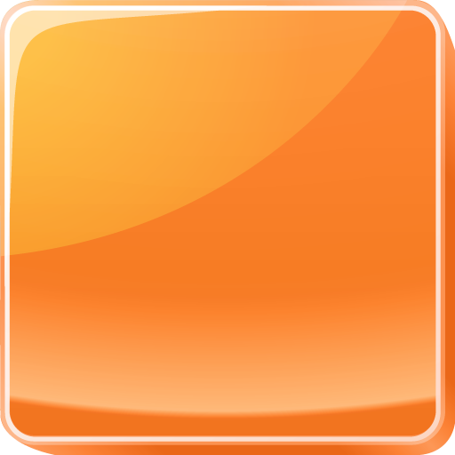Orange Button Icon