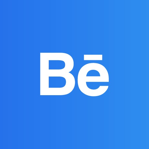 Behance Icon, Behance, Push Button, Blue Png Image And Clipart