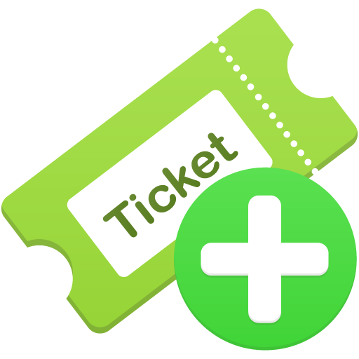 Add Ticket Icon Flatastic Iconset Custom Icon Design