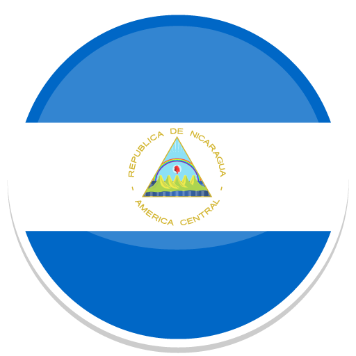 Nicaragua Icon Round World Flags Iconset Custom Icon Design