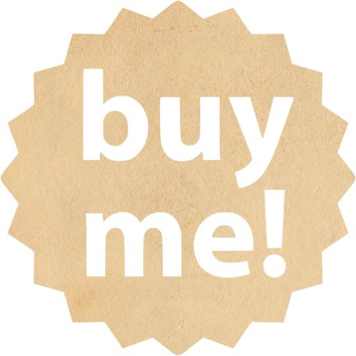 Vintage Paper Buy Me Badge Icon