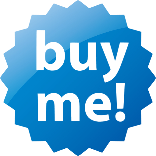 Web Blue Buy Me Badge Icon