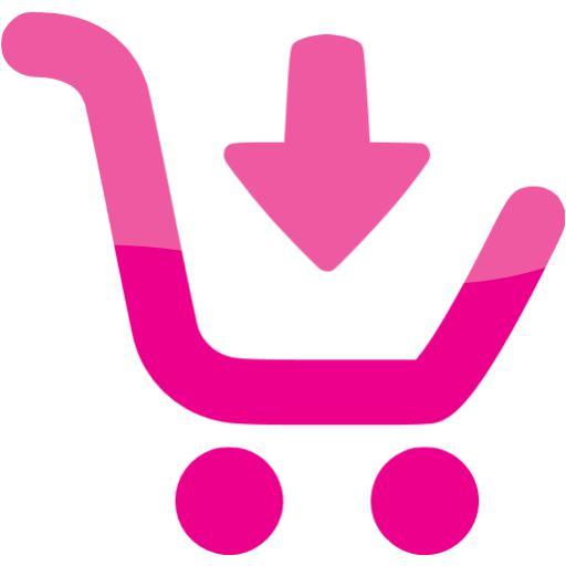 Web Deep Pink Buy Icon