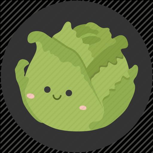 Cabbage, Cartoon, Clean Food, Crisp, Vegetable, Vegetarian Icon