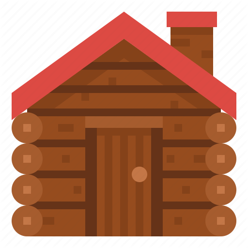 Buildings, Cabin, House, Log, Winter Icon