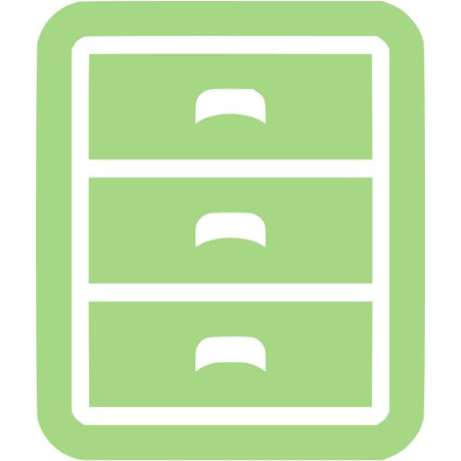 Guacamole Green Filing Cabinet Icon