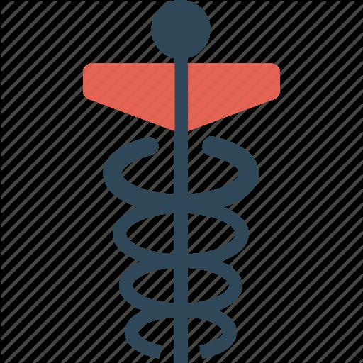 Caduceus, Medical, Sign Icon