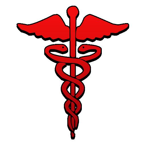 Caduceus Symbol Red Clipart Image