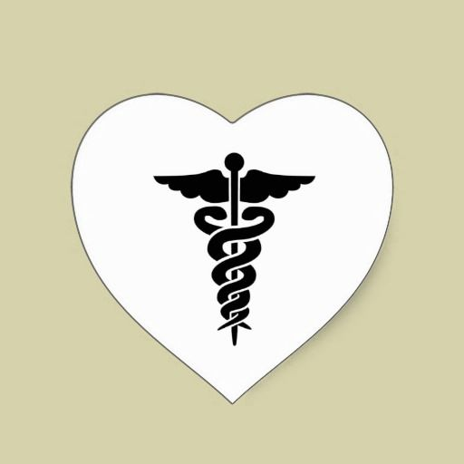 Medical Symbol Caduceus Heart Sticker Nurse