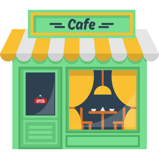 Hot Drink, Building, Coffee Shop, Buildings, Coffee Machine, Cafe Icon