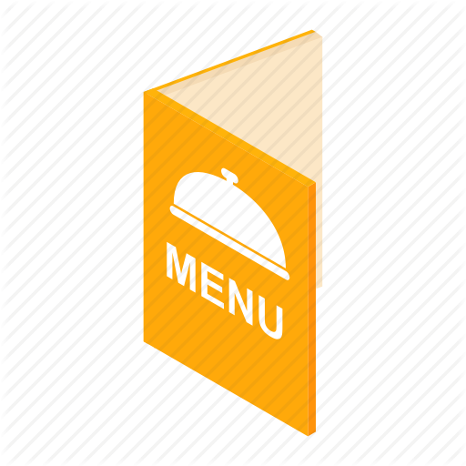 Brochure, Cafe, Isometric, Meal, Menu, Restaurant, Template Icon
