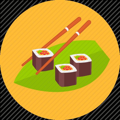 Asian, Food, Healthy, Japan, Japanese, Sushi Icon