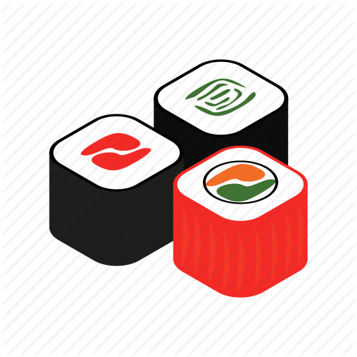 Delicious, Isometric, Meal, Prepared, Roll, Salmon, Sushi Icon
