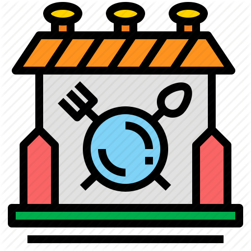 Cafeteria, Canteen, Food, Restaurant Icon