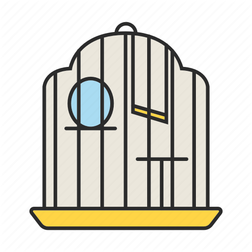 Bird, Birdcage, Cage, House, Parrot, Pet, Place Icon