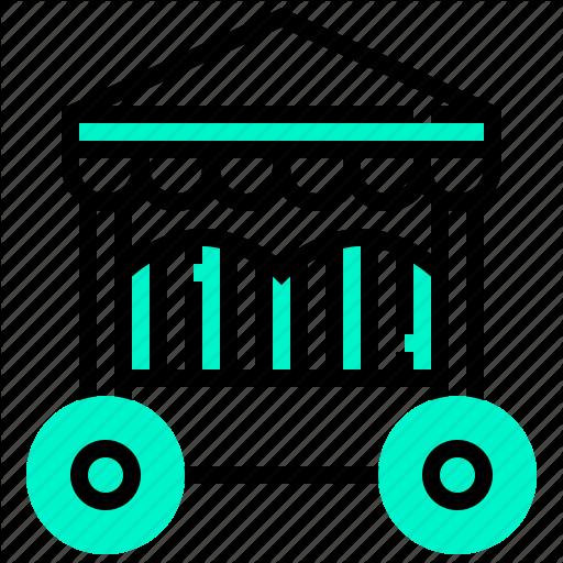 Cage, Cart, Circus, Show Icon