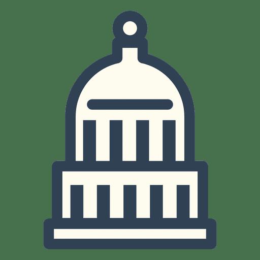 Usa Capitol Stroke Icon