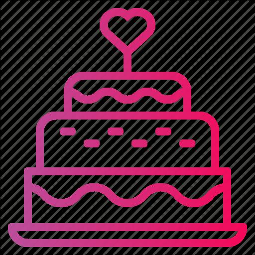 Bakery, Birthday, Cake, Candles, Wedding Cake Icon