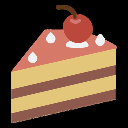 Cherry Cake Slice Flat Icon