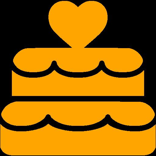 Orange Wedding Cake Icon