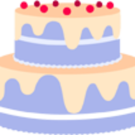 Cropped Purple Cake Icon Cakin' It Up