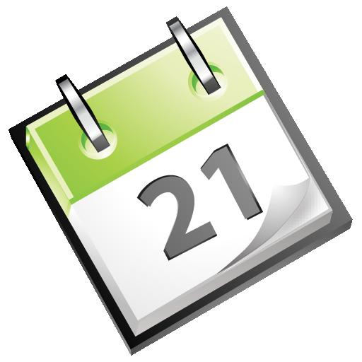 Calendar, Date, Green Icon