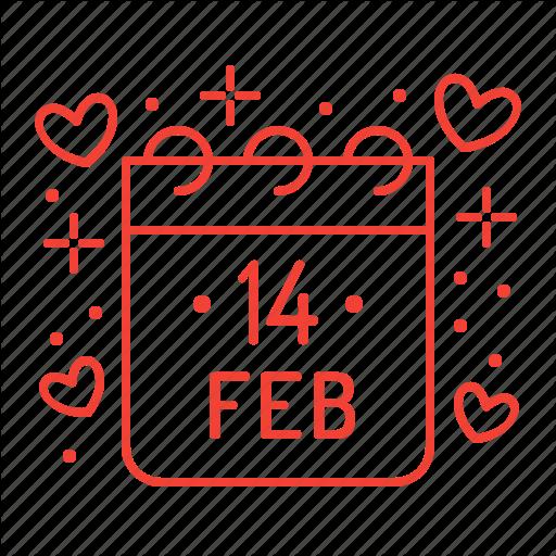 Valentine Calendar Calendar Day February Valentine Valentines Day