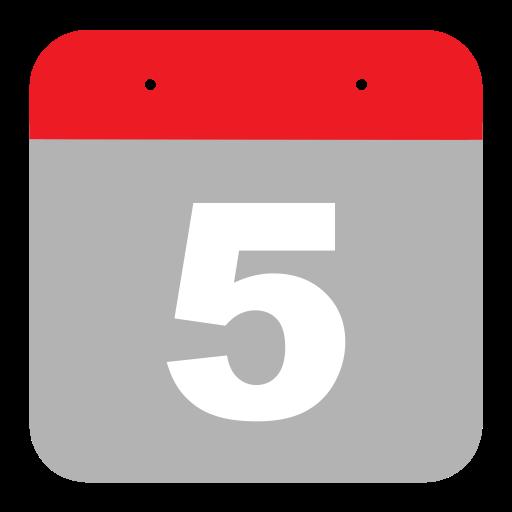 Five Flat Icon