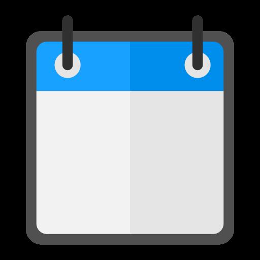 Calendar, Blank, Flat Icon Free Of Snipicons Flat