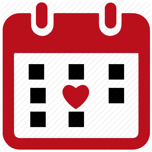 Calendar, Love, Vaentine Icon
