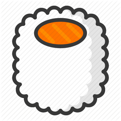 California Maki, Food, Japan, Line, Maki, Sushi Icon