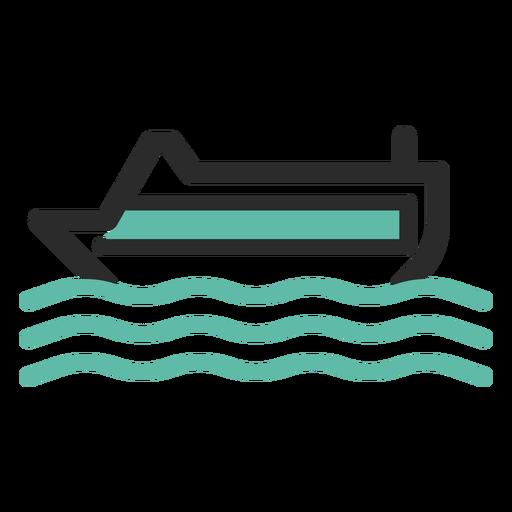 Cruise Ship Colored Stroke Icon