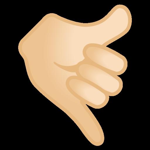 Call Me Hand Light Skin Tone Icon Noto Emoji People Bodyparts