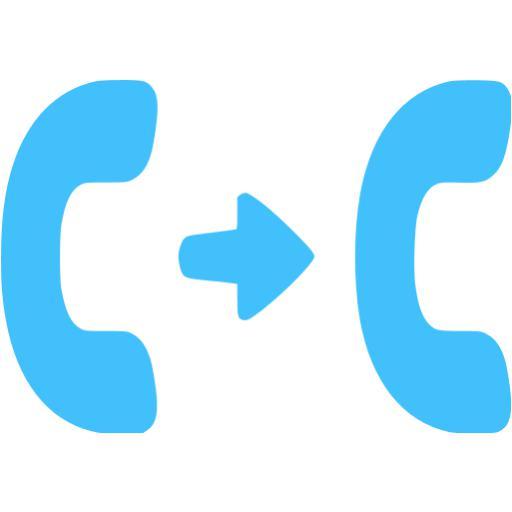 Caribbean Blue Call Transfer Icon