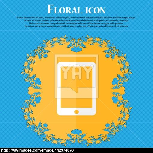 Smartphone Sign Icon Support Symbol Call Center Floral Flat