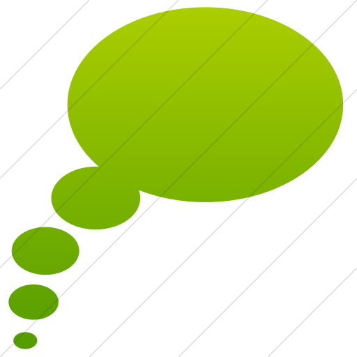 Simple Green Gradient Classica Thought Bubble Icon