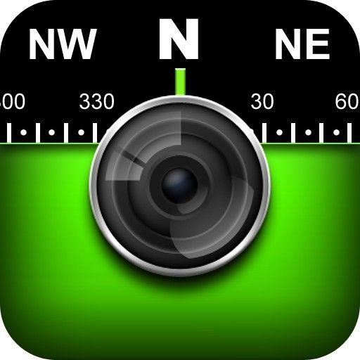Solocator App Icon Gps Camera App + Compass Timestamp